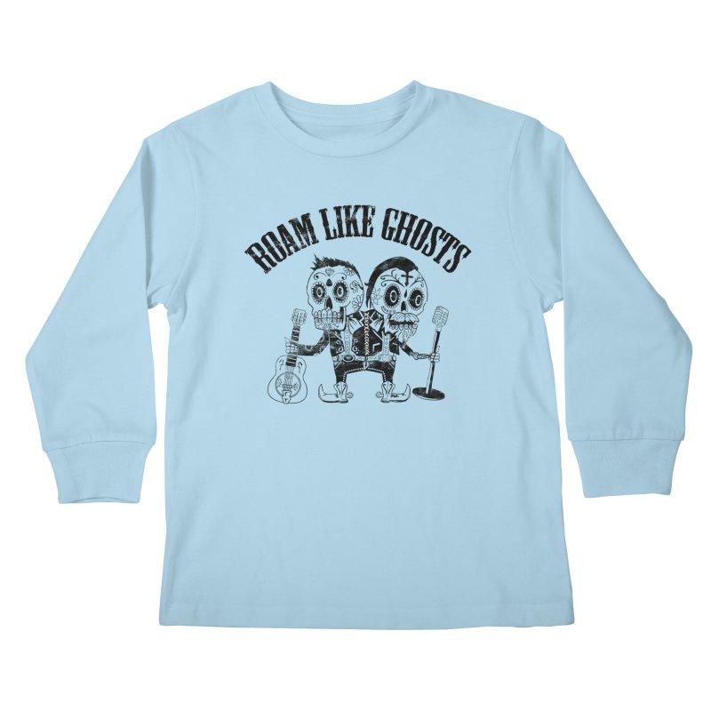 RLG-Amigos-Black Kids Longsleeve T-Shirt by Roam Like Ghost's Merch Shop