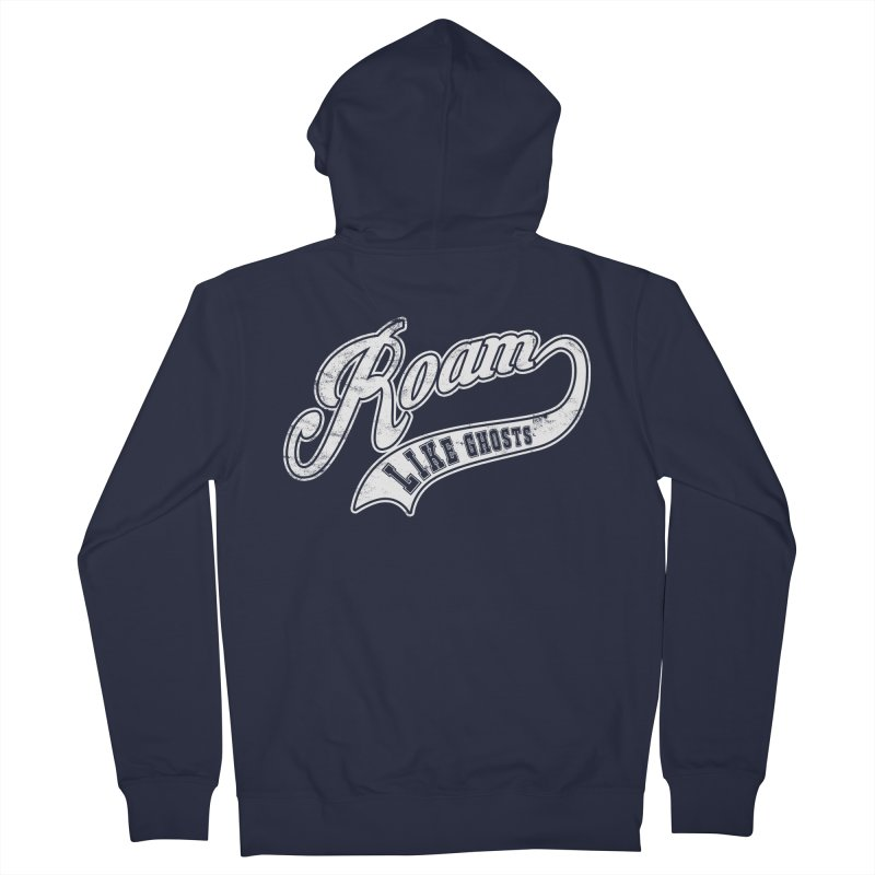 Roam Like Ghosts - Athletics for Darks colors Women's French Terry Zip-Up Hoody by Roam Like Ghost's Merch Shop