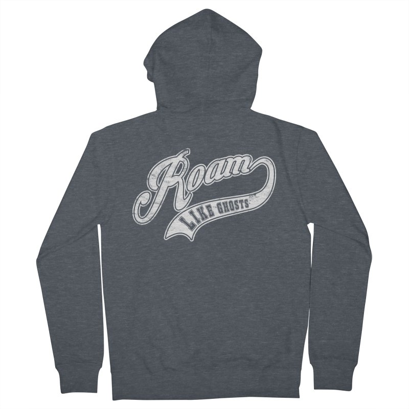 Roam Like Ghosts - Athletics for Darks colors Men's French Terry Zip-Up Hoody by Roam Like Ghost's Merch Shop
