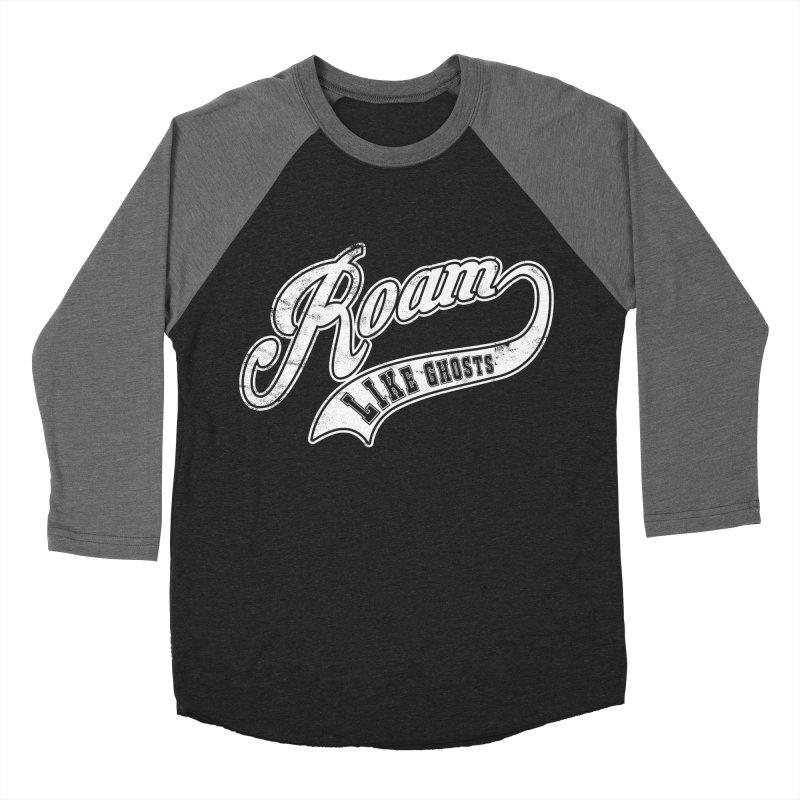 Roam Like Ghosts - Athletics for Darks colors in Men's Baseball Triblend Longsleeve T-Shirt Grey Triblend Sleeves by Roam Like Ghost's Merch Shop