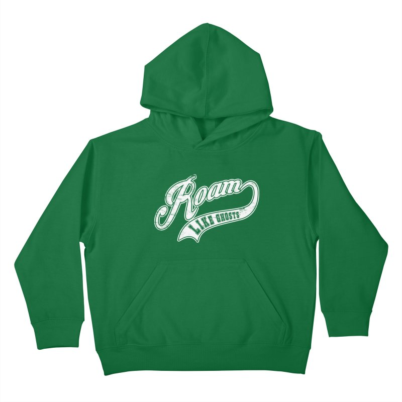 Roam Like Ghosts - Athletics for Darks colors Kids Pullover Hoody by Roam Like Ghost's Merch Shop