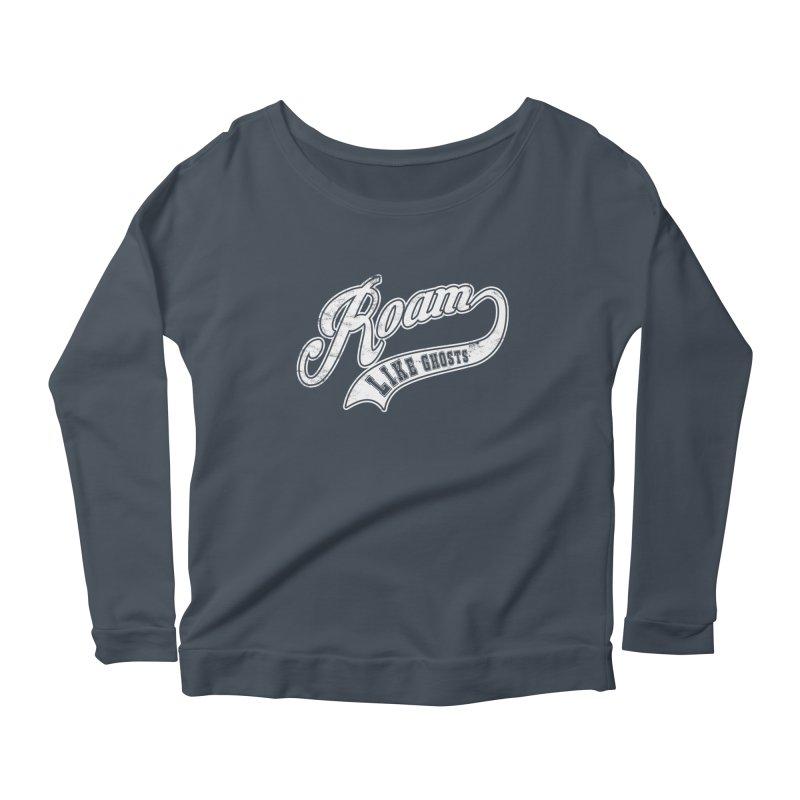 Roam Like Ghosts - Athletics for Darks colors Women's Scoop Neck Longsleeve T-Shirt by Roam Like Ghost's Merch Shop