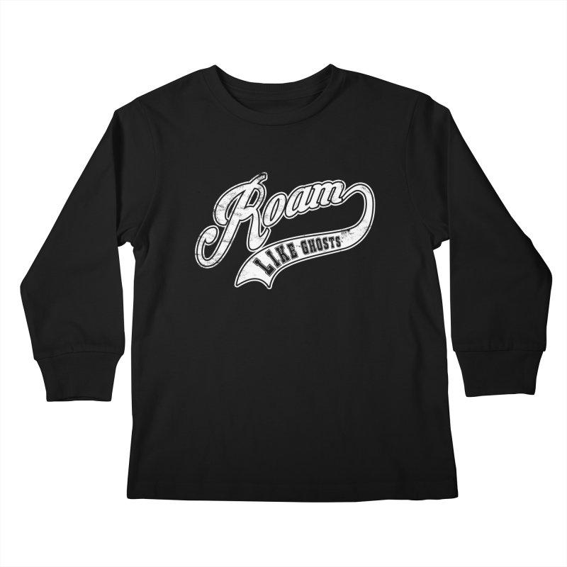 Roam Like Ghosts - Athletics for Darks colors Kids Longsleeve T-Shirt by Roam Like Ghost's Merch Shop