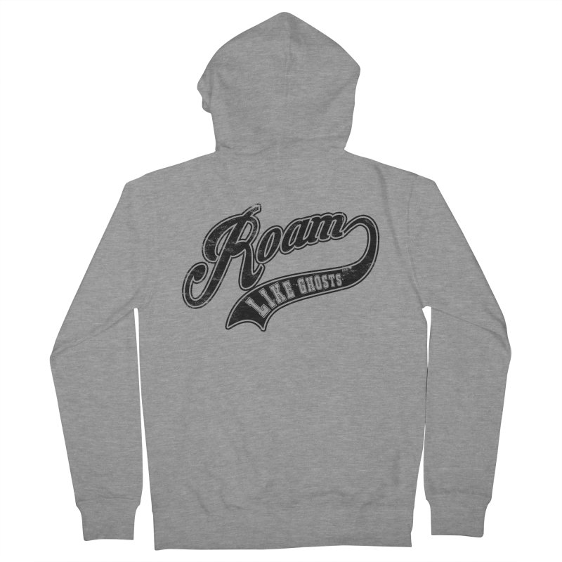 Roam Like Ghosts - Athletics design for light colors. Women's French Terry Zip-Up Hoody by Roam Like Ghost's Merch Shop