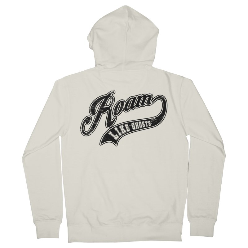 Roam Like Ghosts - Athletics design for light colors. Men's French Terry Zip-Up Hoody by Roam Like Ghost's Merch Shop