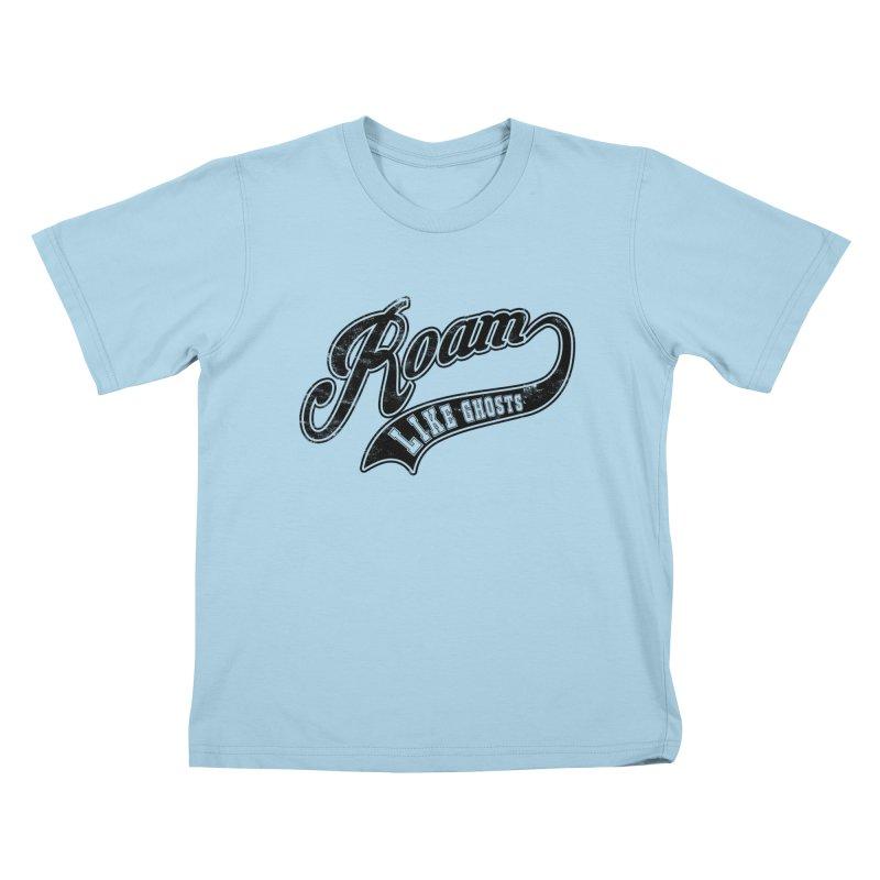 Roam Like Ghosts - Athletics design for light colors. Kids T-Shirt by Roam Like Ghost's Merch Shop