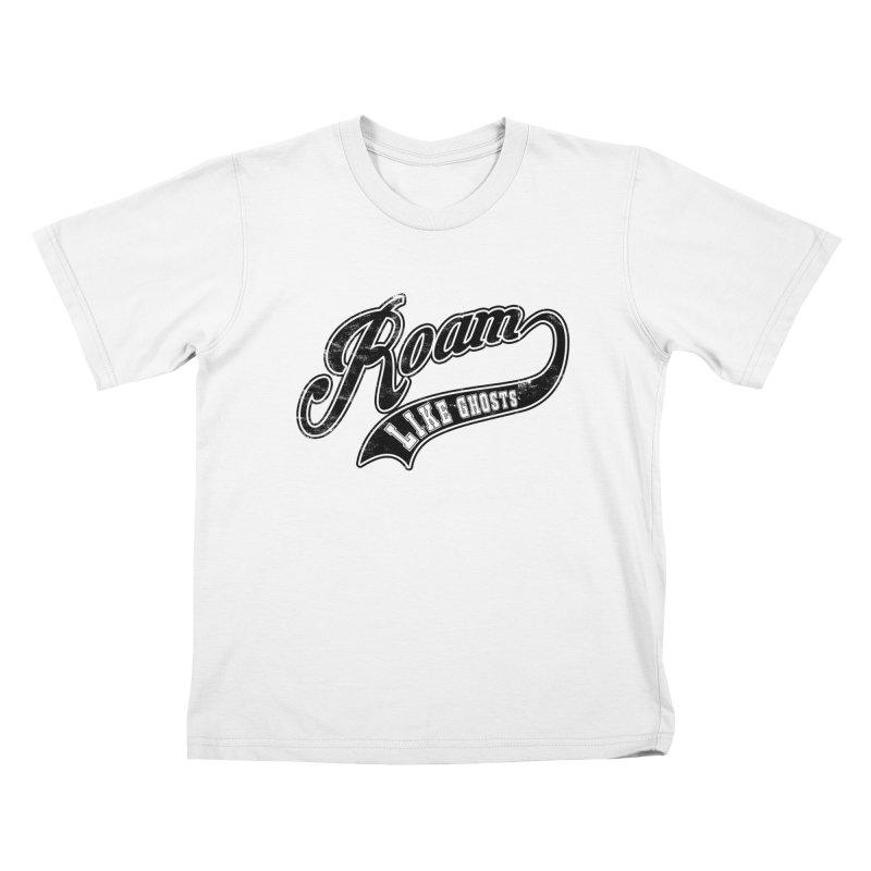 Roam Like Ghosts - Athletics design for light colors. Kids T-Shirt by Roam Like Ghost's Merch Shop