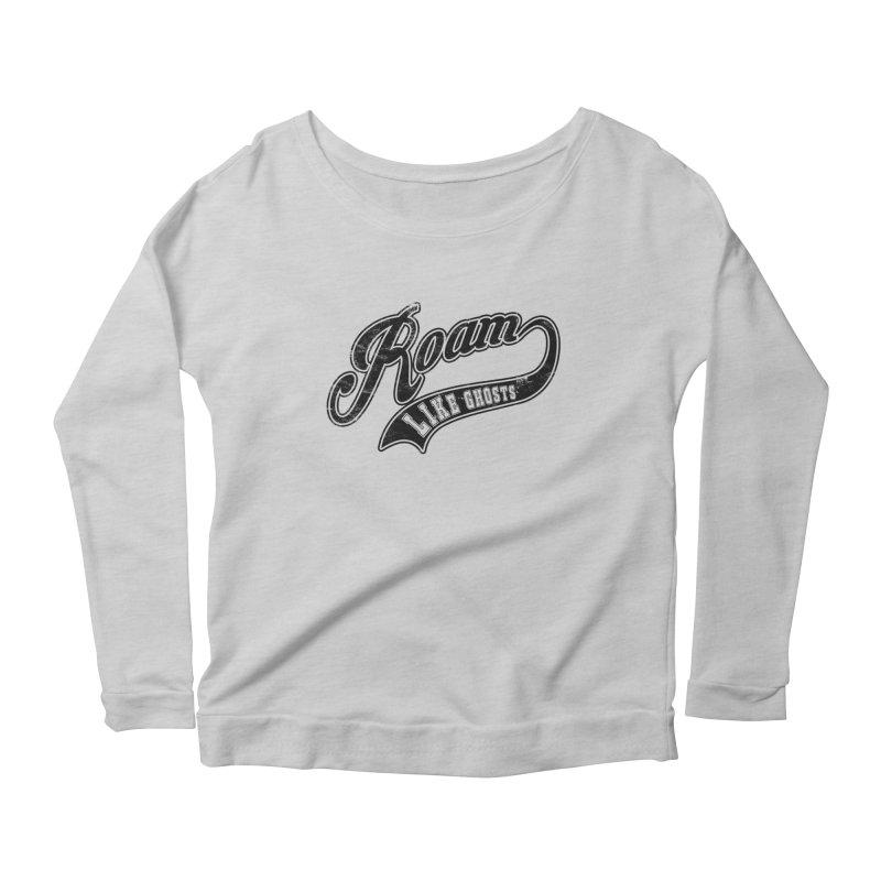 Roam Like Ghosts - Athletics design for light colors. Women's Scoop Neck Longsleeve T-Shirt by Roam Like Ghost's Merch Shop