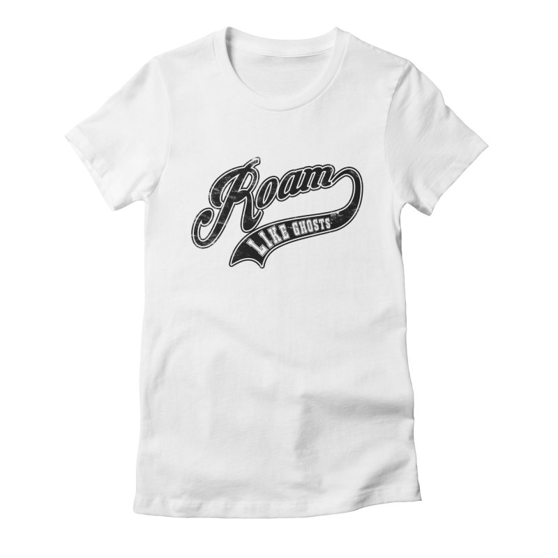 Roam Like Ghosts - Athletics design for light colors. Women's Fitted T-Shirt by Roam Like Ghost's Merch Shop