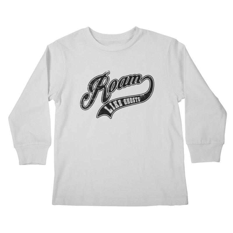 Roam Like Ghosts - Athletics design for light colors. Kids Longsleeve T-Shirt by Roam Like Ghost's Merch Shop