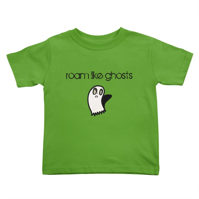 RLG-Olivias-Ghost-Design-on-lights Kids Toddler T-Shirt by Roam Like Ghost's Merch Shop