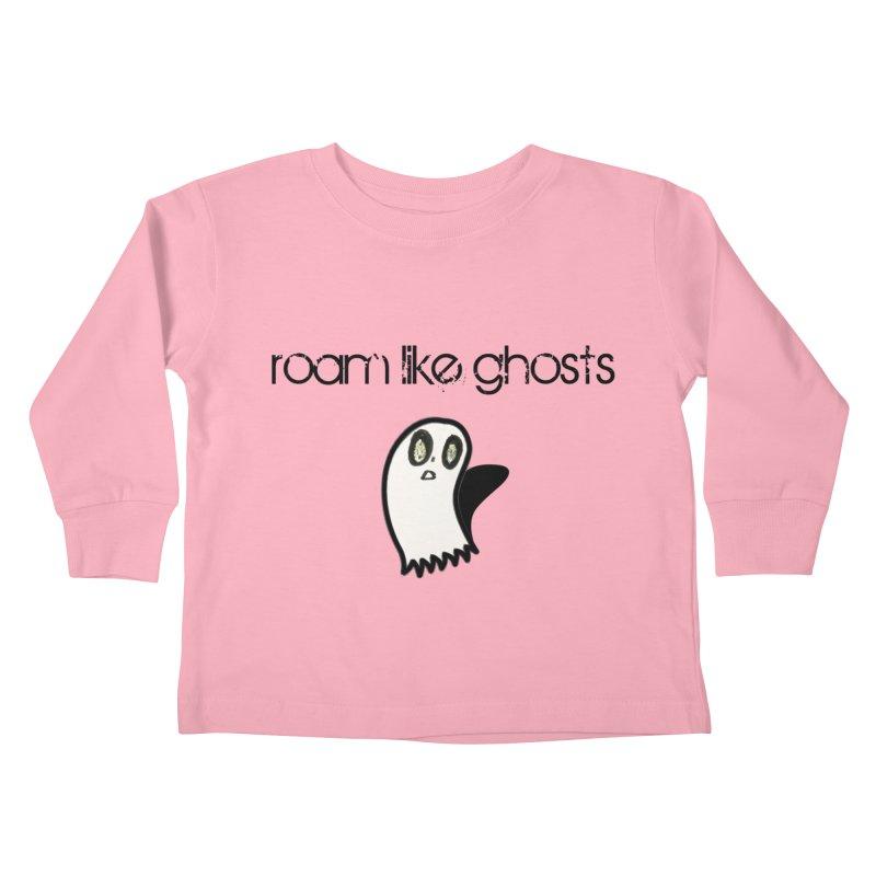 RLG-Olivias-Ghost-Design-on-lights Kids Toddler Longsleeve T-Shirt by Roam Like Ghost's Merch Shop