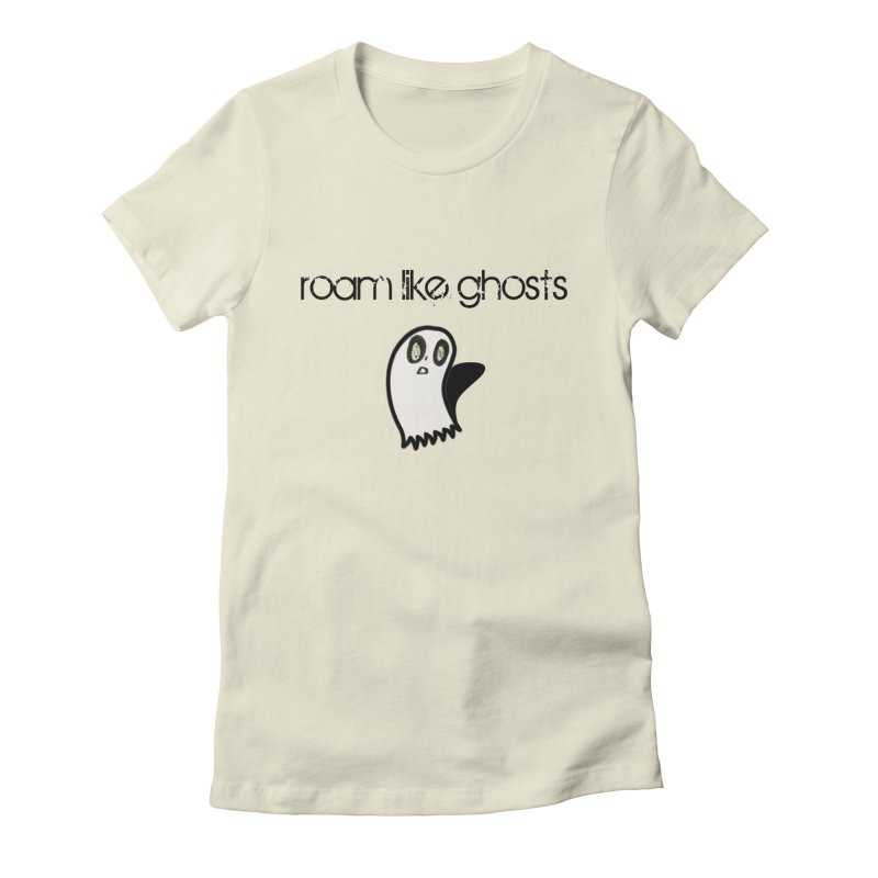 RLG-Olivias-Ghost-Design-on-lights Women's Fitted T-Shirt by Roam Like Ghost's Merch Shop