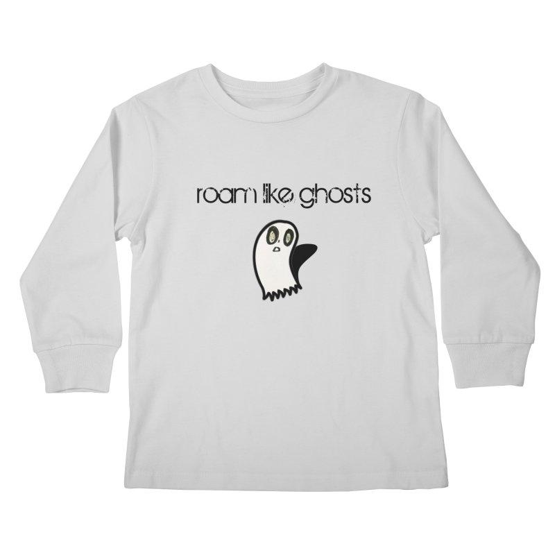 RLG-Olivias-Ghost-Design-on-lights Kids Longsleeve T-Shirt by Roam Like Ghost's Merch Shop
