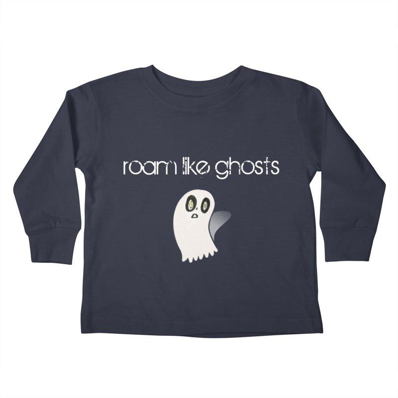 RLG-Olivias-Ghost-Design-on-darks Kids Toddler Longsleeve T-Shirt by Roam Like Ghost's Merch Shop