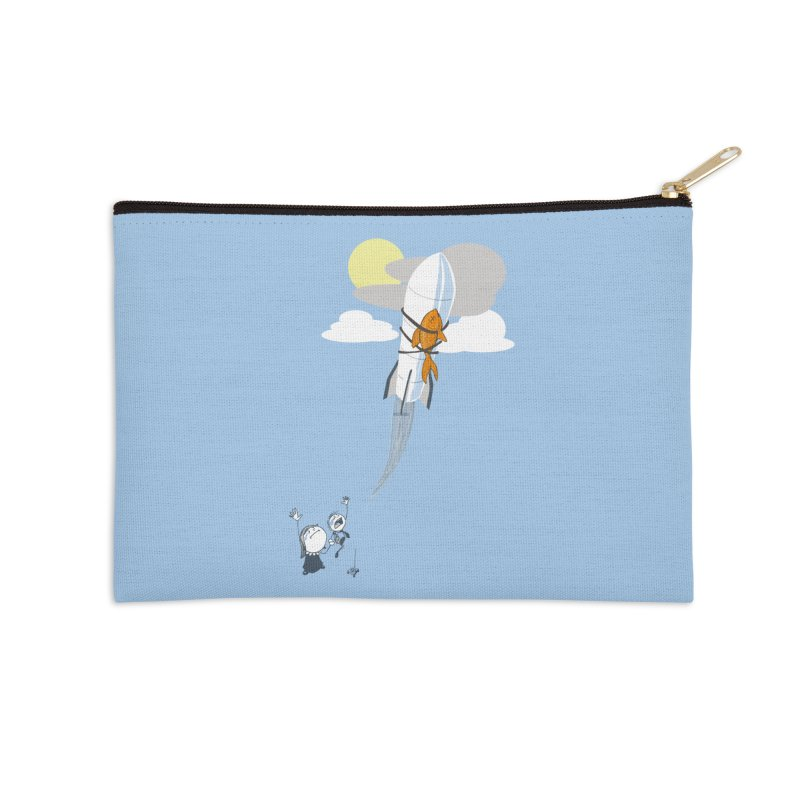 Amelia's Fish Accessories Zip Pouch by Robbie Lee's Artist Shop