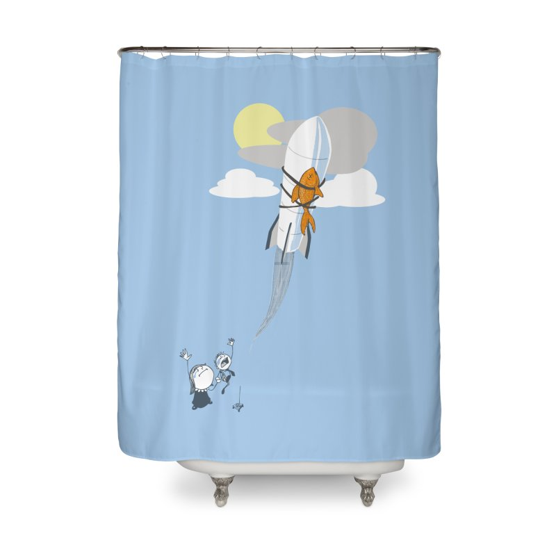Amelia's Fish Home Shower Curtain by Robbie Lee's Artist Shop