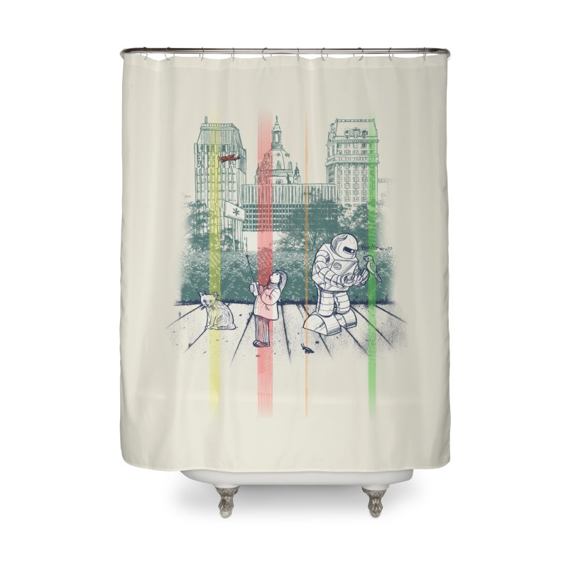 God Bless You Kurt Vonnegut Home Shower Curtain by Robbie Lee's Artist Shop