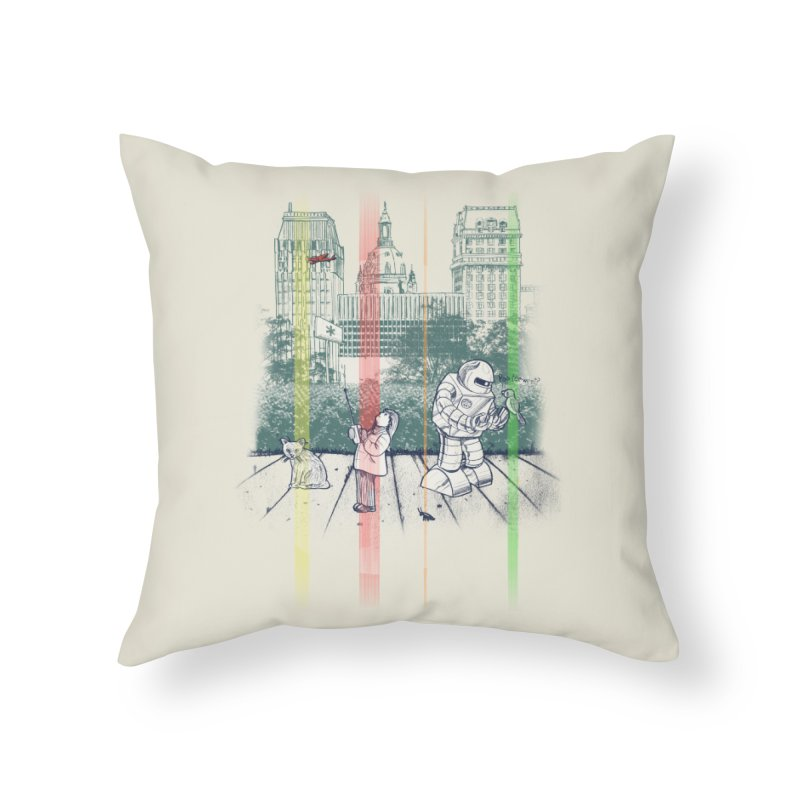 God Bless You Kurt Vonnegut Home Throw Pillow by Robbie Lee's Artist Shop