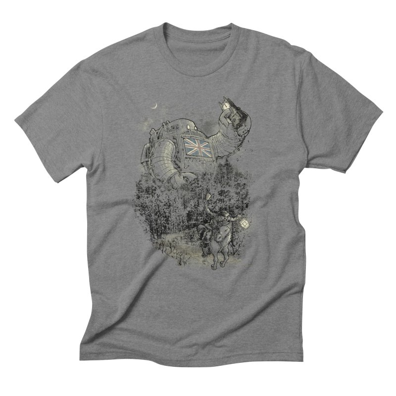 Twenty if by Giant Robot Men's Triblend T-shirt by Robbie Lee's Artist Shop