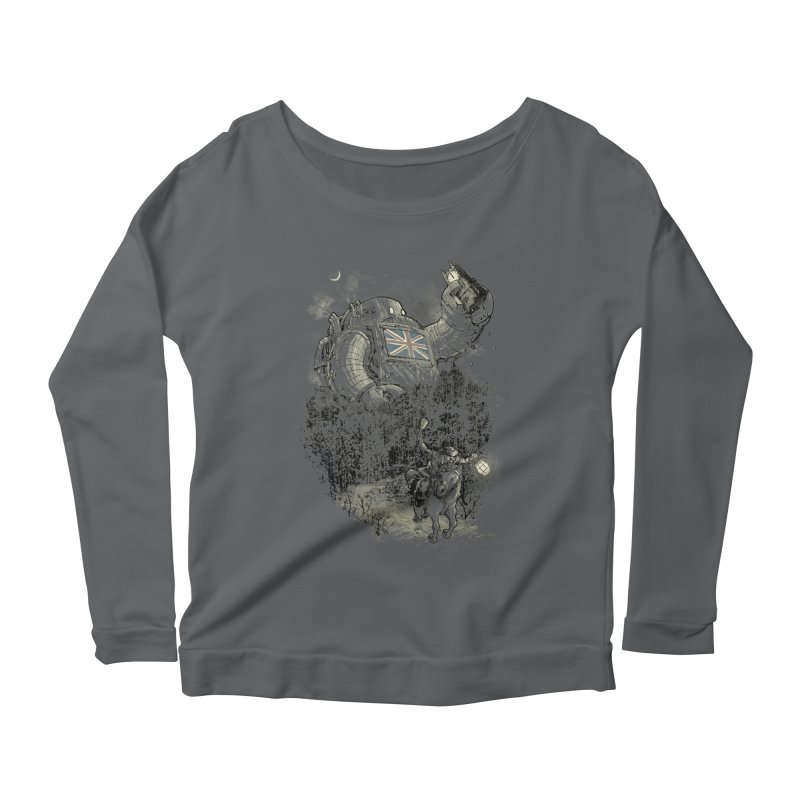 Twenty if by Giant Robot Women's Longsleeve Scoopneck  by Robbie Lee's Artist Shop