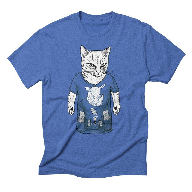 Meta Animals Men's Triblend T-Shirt by Robbie Lee's Artist Shop