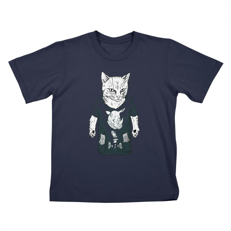 Meta Animals Kids T-Shirt by Robbie Lee's Artist Shop
