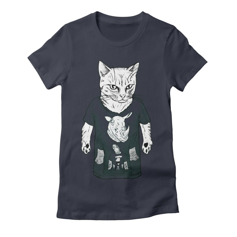 Meta Animals Women's Fitted T-Shirt by Robbie Lee's Artist Shop
