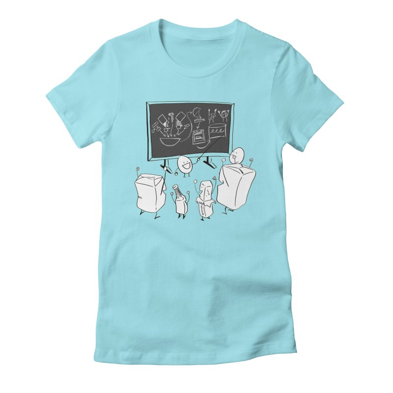 Let's Bake a Cake! Women's Fitted T-Shirt by Robbie Lee's Artist Shop