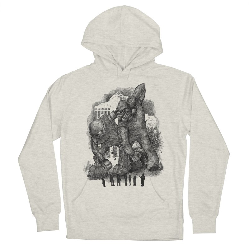 Robot vs. Golem Women's French Terry Pullover Hoody by Robbie Lee's Artist Shop