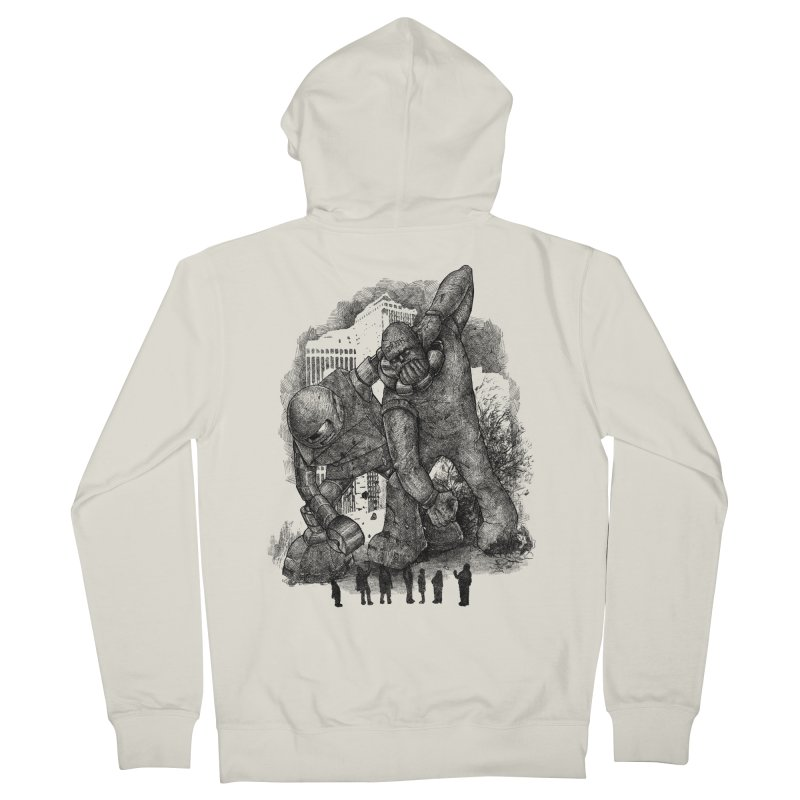 Robot vs. Golem Women's French Terry Zip-Up Hoody by Robbie Lee's Artist Shop