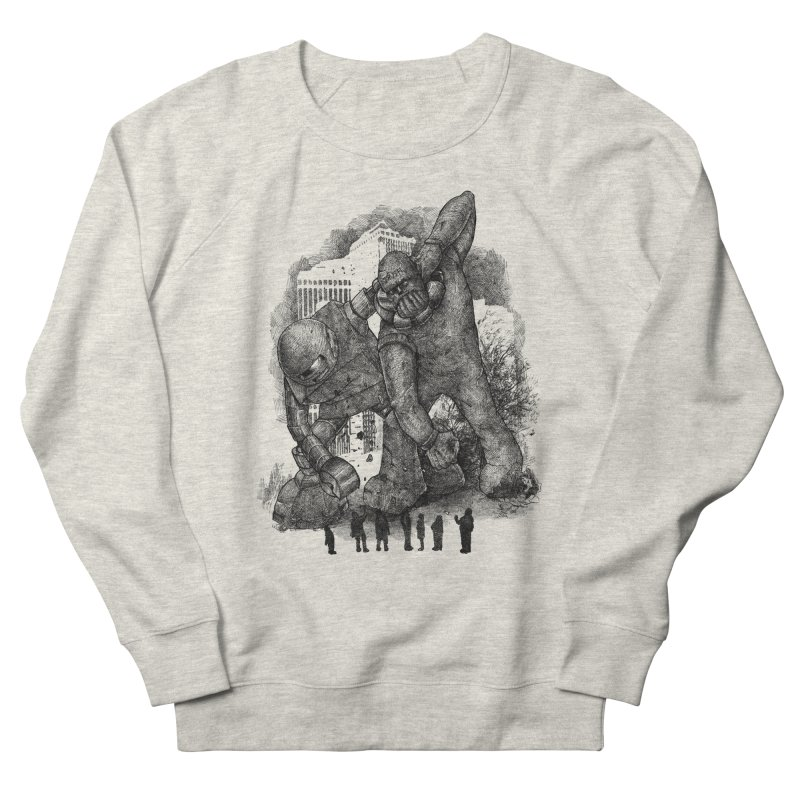Robot vs. Golem Men's French Terry Sweatshirt by Robbie Lee's Artist Shop