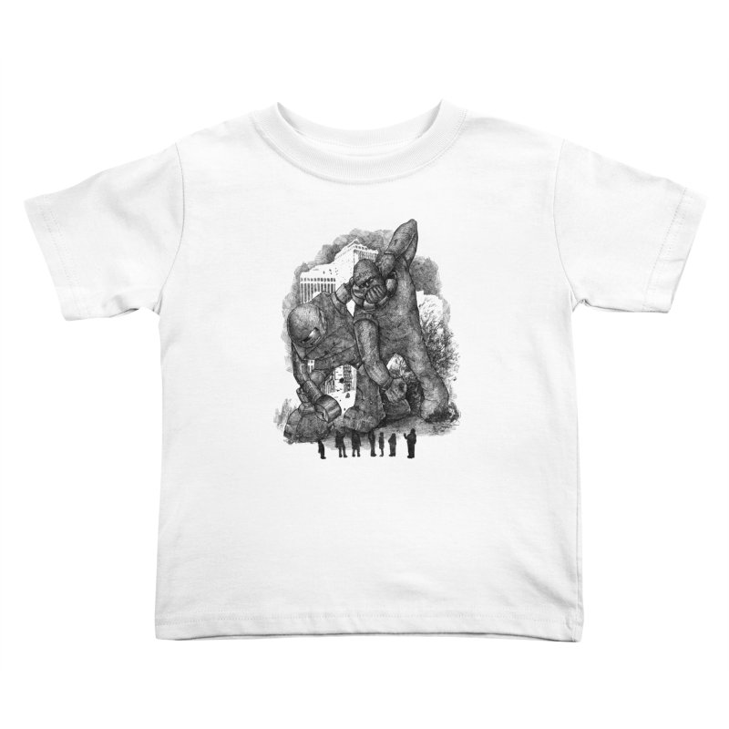 Robot vs. Golem Kids Toddler T-Shirt by Robbie Lee's Artist Shop