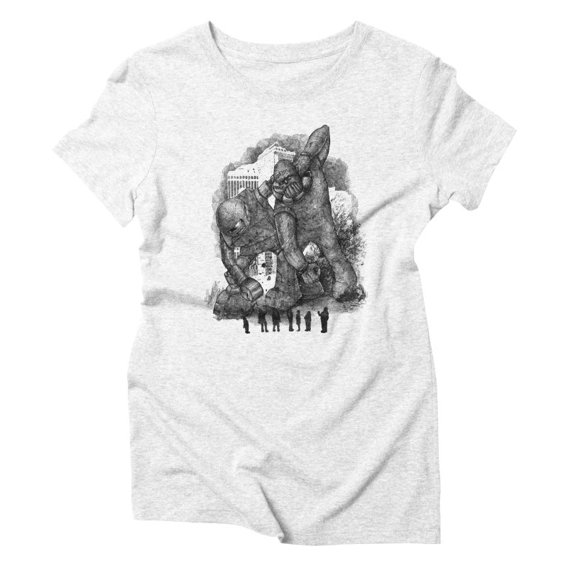 Robot vs. Golem Women's Triblend T-shirt by Robbie Lee's Artist Shop