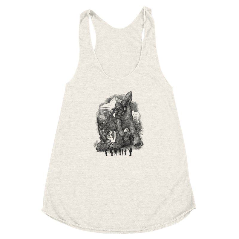 Robot vs. Golem Women's Racerback Triblend Tank by Robbie Lee's Artist Shop