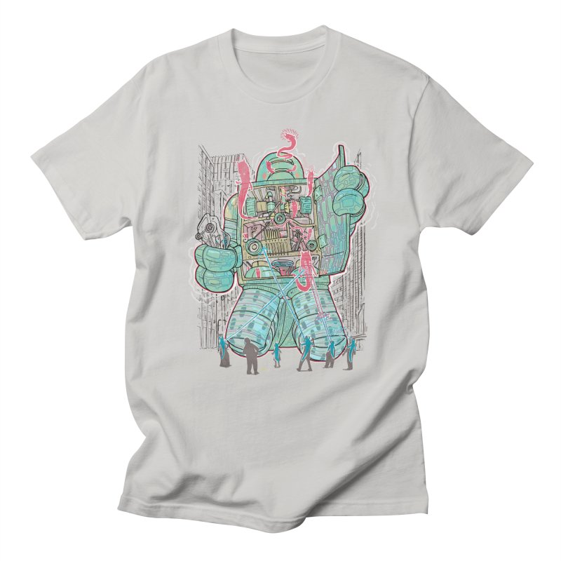 Haunted Robot (with Edgar R. McHerly) Men's T-shirt by Robbie Lee's Artist Shop