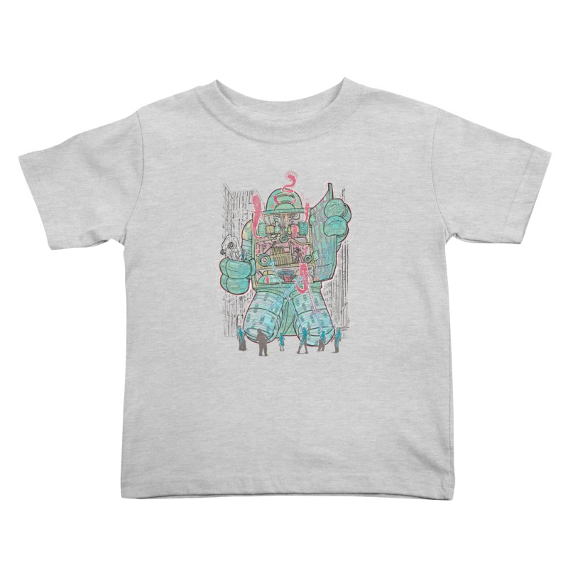 Haunted Robot (with Edgar R. McHerly) Kids Toddler T-Shirt by Robbie Lee's Artist Shop