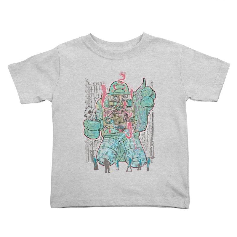 Haunted Robot (with Edgar R. McHerly) Kids Toddler T-Shirt by Robbie Lee's Artist Shop