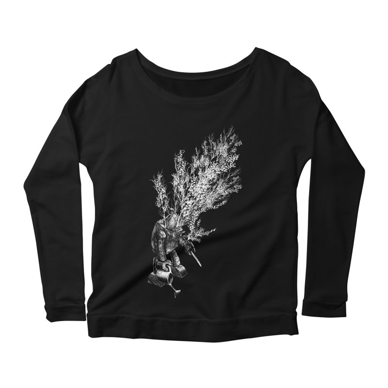 Repurposed Women's Longsleeve Scoopneck  by Robbie Lee's Artist Shop