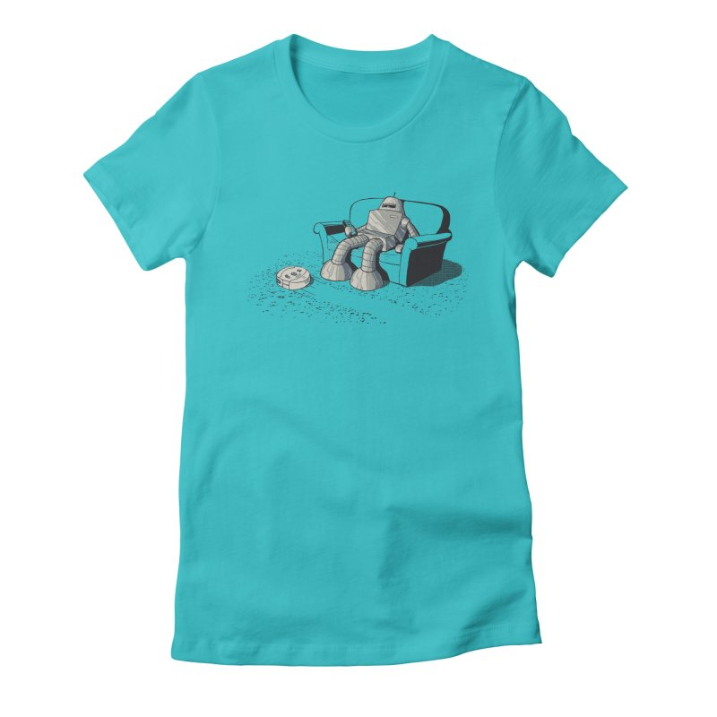 My Favorite Program Women's Fitted T-Shirt by Robbie Lee's Artist Shop