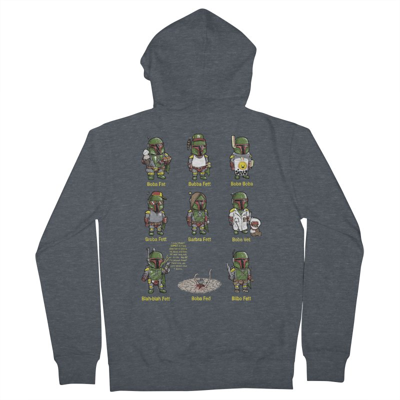 Lesser Known Intergalactic Bounty Hunters Women's Zip-Up Hoody by Robbie Lee's Artist Shop