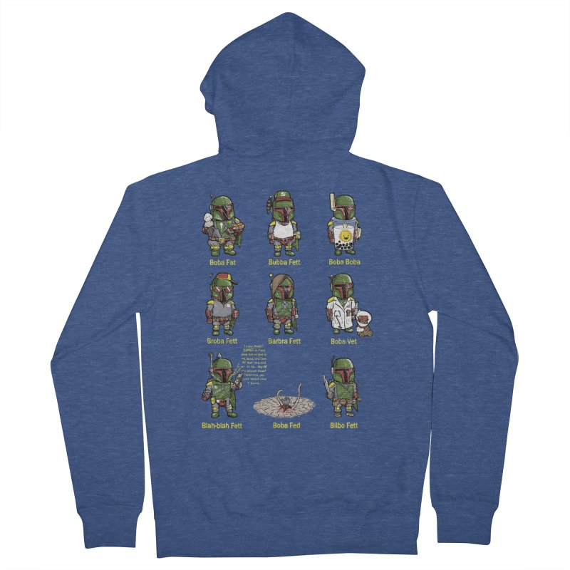 Lesser Known Intergalactic Bounty Hunters Men's French Terry Zip-Up Hoody by Robbie Lee's Artist Shop