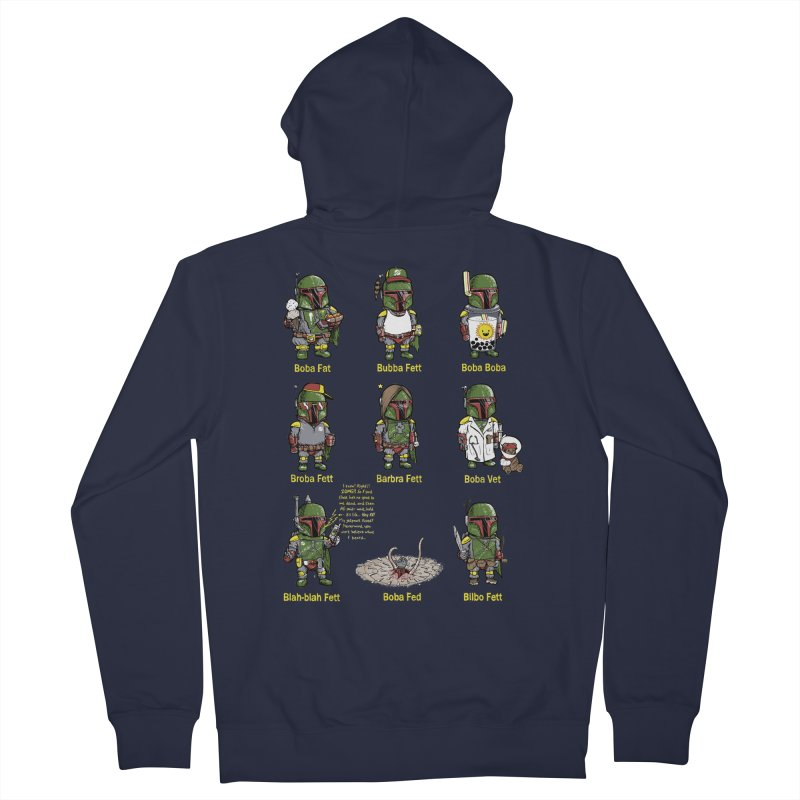 Lesser Known Intergalactic Bounty Hunters Men's Zip-Up Hoody by Robbie Lee's Artist Shop