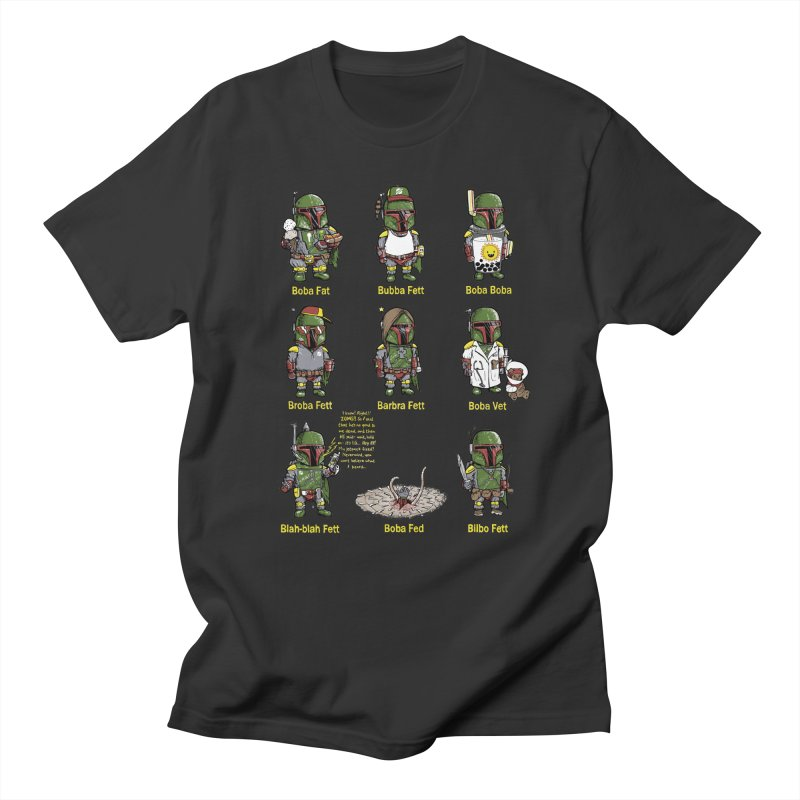 Lesser Known Intergalactic Bounty Hunters Men's Regular T-Shirt by Robbie Lee's Artist Shop