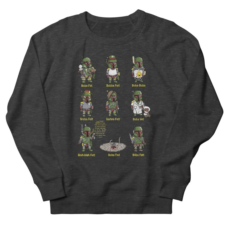 Lesser Known Intergalactic Bounty Hunters Men's French Terry Sweatshirt by Robbie Lee's Artist Shop
