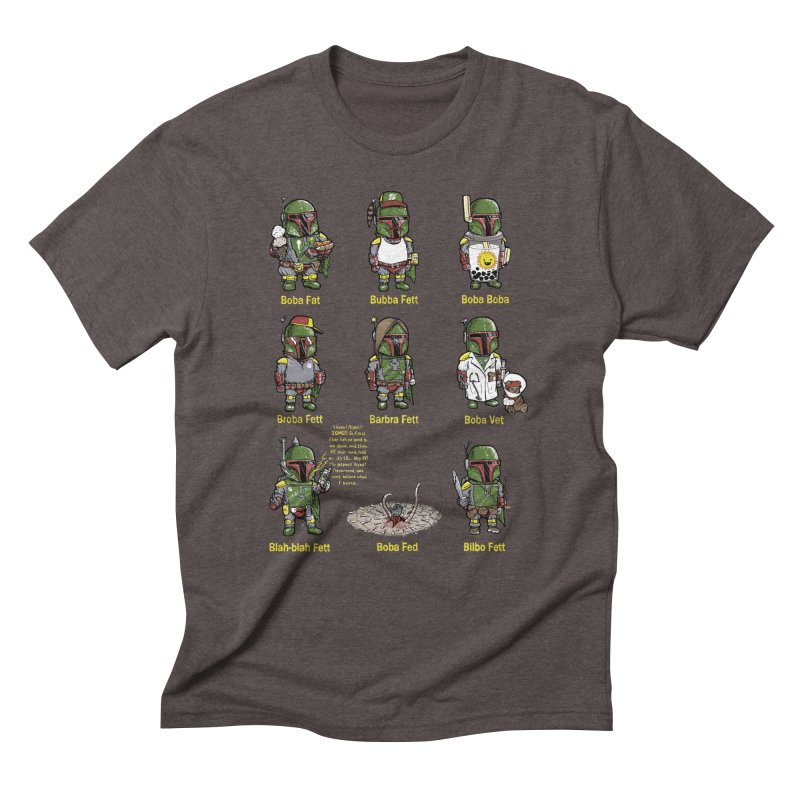 Lesser Known Intergalactic Bounty Hunters Men's Triblend T-shirt by Robbie Lee's Artist Shop