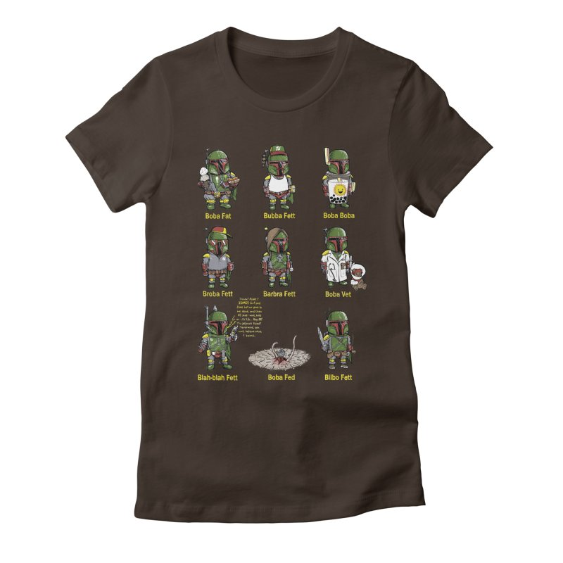 Lesser Known Intergalactic Bounty Hunters Women's Fitted T-Shirt by Robbie Lee's Artist Shop