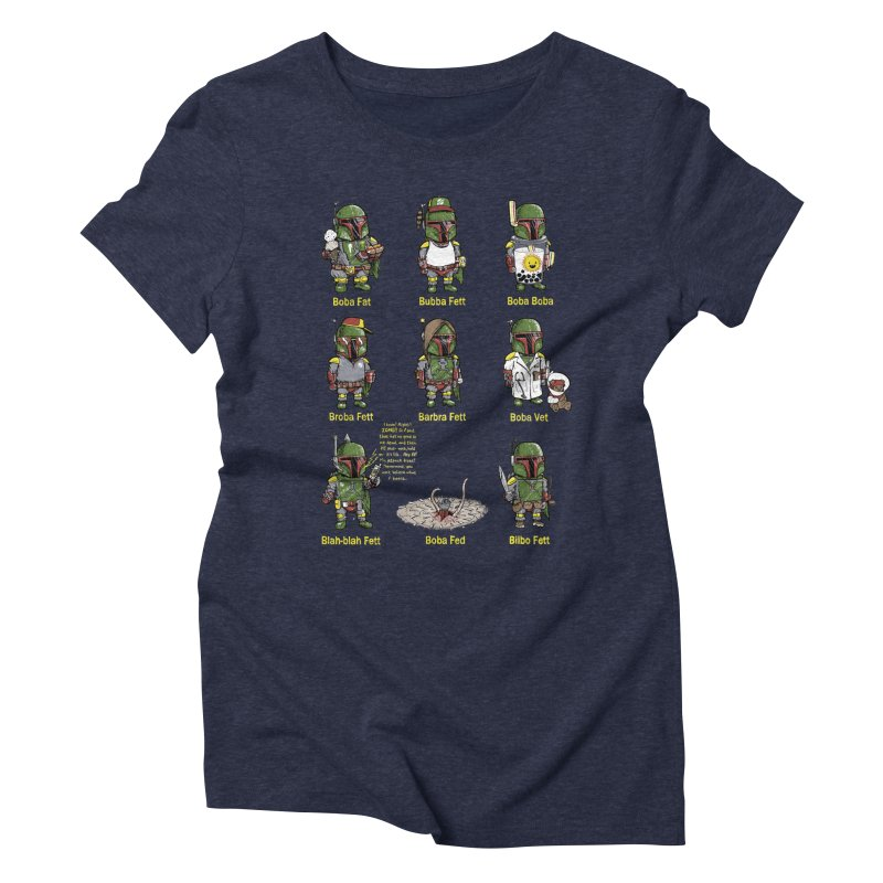 Lesser Known Intergalactic Bounty Hunters Women's Triblend T-shirt by Robbie Lee's Artist Shop