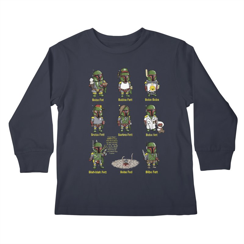 Lesser Known Intergalactic Bounty Hunters Kids Longsleeve T-Shirt by Robbie Lee's Artist Shop