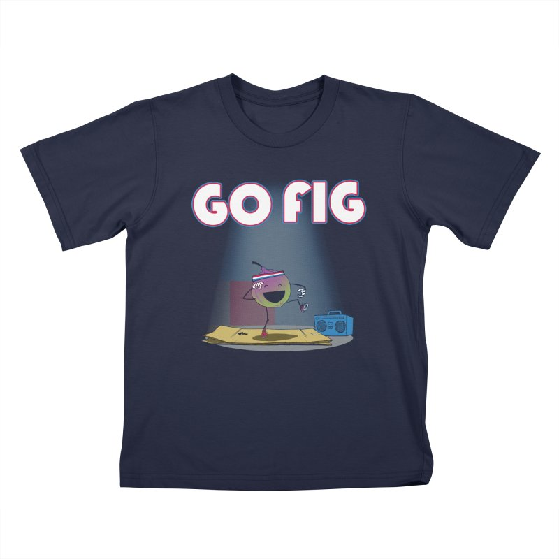 Go Fig Kids T-shirt by Robbie Lee's Artist Shop